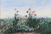 A BANK OF WILD FLOWERS by Andrew Nicholl RHA at Ross's Auctions