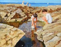 THE ROCK POOL by John Haskins at Ross's Auctions