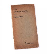 THE PHILOSOPHER, AN APPRECIATION by Elizabeth Shane at Ross's Auctions