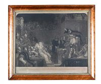WALNUT FRAMED ENGRAVING at Ross's Auctions