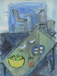 KITCHEN STILL LIFE by Harry C.  Reid HRUA at Ross's Auctions