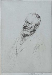SEATED GENTLEMAN by Joseph Simpson at Ross's Auctions