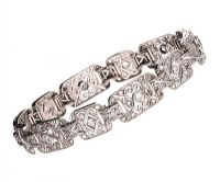 18CT WHITE GOLD AND DIAMOND BRACELET at Ross's Auctions
