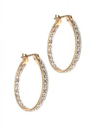9CT GOLD AND DIAMOND HOOP EARRINGS at Ross's Auctions