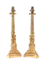 PAIR OF GILDED TABLE LAMPS at Ross's Auctions