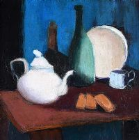 TABLE TOP STILL LIFE by Arthur Armstrong RHA at Ross's Auctions