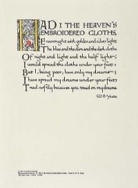 HAD I THE HEAVENS EMBROIDERED CLOTHS by William Butler Yeats at Ross's Auctions