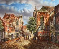 DUTCH COBBLED STREET by Franklin at Ross's Auctions
