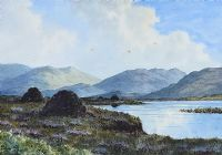 LOCH AN IUIR, COUNTY DONEGAL by Douglas Alexander RHA at Ross's Auctions