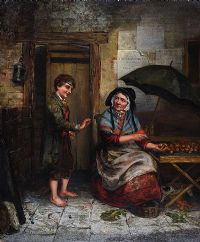 THE APPLE SELLER by 19th Century Irish School at Ross's Auctions