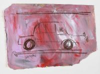 RED CAR by Basil Blackshaw HRHA HRUA at Ross's Auctions