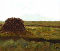 TURF STACK, CONNEMARA by Maeve Taylor at Ross's Auctions
