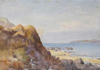 ROCKS & FORESHORE by R. Andrews at Ross's Auctions