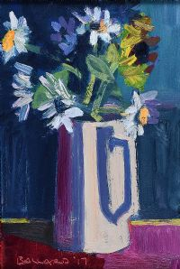 STILL LIFE, JUG ON PURPLE by Brian Ballard RUA at Ross's Auctions