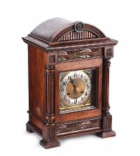 VICTORIAN CARVED OAK BRACKET CLOCK at Ross's Auctions
