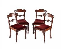 SET OF FOUR WILLIAM IV DINING ROOM CHAIRS at Ross's Auctions