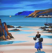 PATIENTLY WAITING, CUSHENDUN by J.P. Rooney at Ross's Auctions