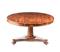 VICTORIAN ROSEWOOD CIRCULAR BREAKFAST TABLE at Ross's Auctions