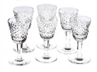 SET OF SIX WATERFORD LIQUER GLASSES at Ross's Auctions