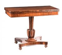 VICTORIAN ROSEWOOD TURN OVER LEAF TEA TABLE at Ross's Auctions