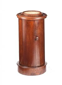 VICTORIAN MAHOGANY CYLINDER POT CUPBOARD at Ross's Auctions