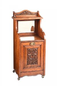 EDWARDIAN MAHOGANY COAL CABINET at Ross's Auctions