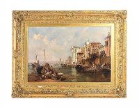 GILT FRAMED OIL ON CANVAS OF VENICE at Ross's Auctions