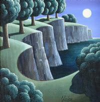 TREES & CLIFFS by George Callaghan at Ross's Auctions