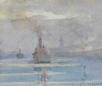 COMING IN TO PORT by Romeo Charles Toogood RUA ARCA at Ross's Auctions
