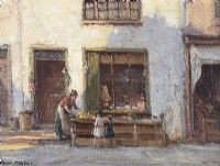 DEVLIN'S SHOP, CUSHENDUN by Frank McKelvey RHA RUA at Ross's Auctions