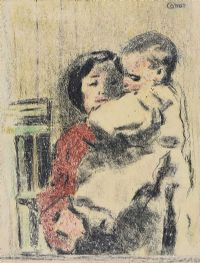 MOTHER & CHILD by William Conor RHA RUA at Ross's Auctions