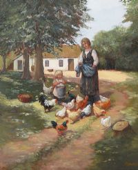 HELPING MOTHER by Phyllis Arnold UWA MSM at Ross's Auctions