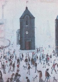 THE BLACK CHURCH by Laurence Stephen Lowry RA at Ross's Auctions