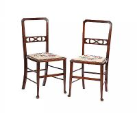 PAIR OF EDWARDIAN OCCASIONAL CHAIRS