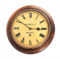 VICTORIAN SCHOOL ROOM CLOCK at Ross's Auctions