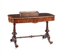 VICTORIAN WALNUT WRITING DESK at Ross's Auctions