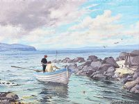 SALMON BOAT, PORTSTEWART by Alymer E. Armstrong UWS at Ross's Auctions
