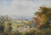 FARMSTEAD IN THE VALLEY by Wycliffe Egginton RI RCA at Ross's Auctions