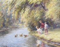FEEDING THE DUCKS by Charles McAuley at Ross's Auctions