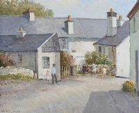 ANN TYSON'S COTTAGE, HAWKSHEARD, CUMBRIA by Maurice Canning  Wilks ARHA RUA at Ross's Auctions