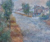 WASHDAY BY THE CANAL by Victor Richardson at Ross's Auctions