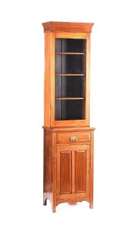EDWARDIAN MAHOGANY GLAZED BOOKCASE