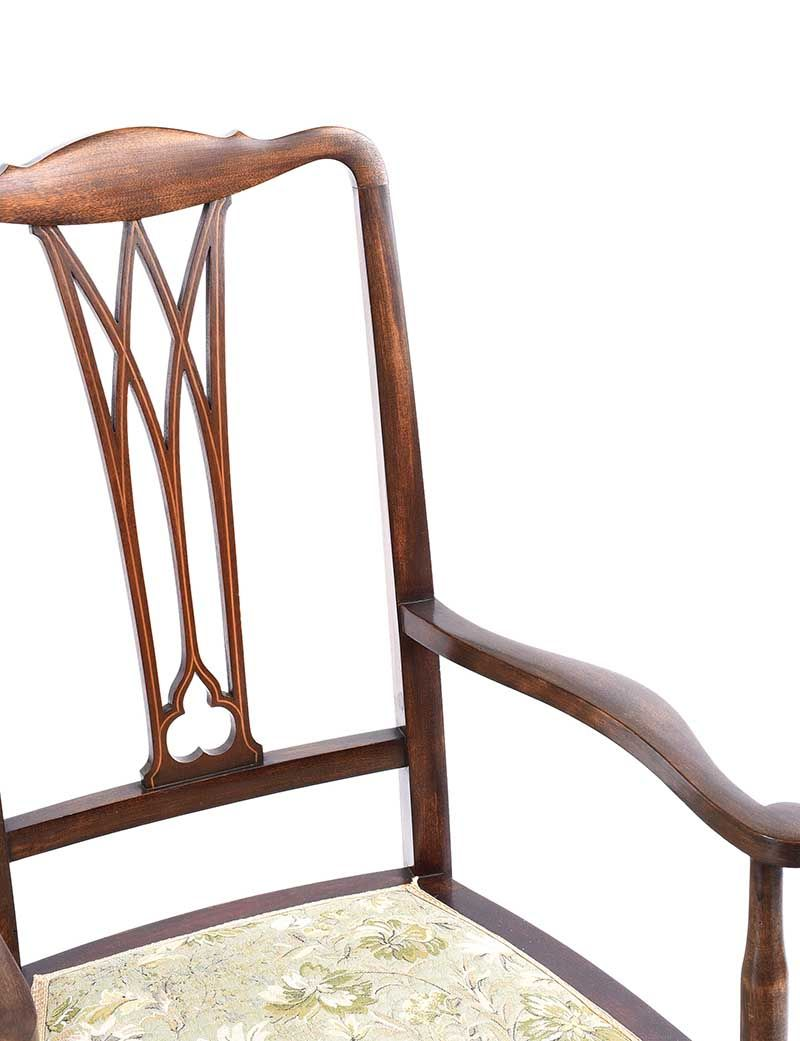 EDWARDIAN INLAID ELBOW CHAIR at Ross's Online Art Auctions