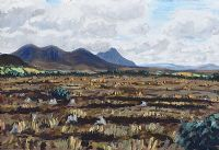 MOUNTAINS, DONEGAL by Leslie Stevenson at Ross's Auctions