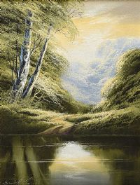 RIVER REFLECTIONS by David H. James at Ross's Auctions