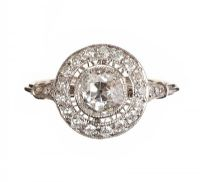 18CT WHITE GOLD DIAMOND RING at Ross's Auctions