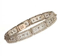 ART DECO PLATINUM DIAMOND BRACELET at Ross's Auctions