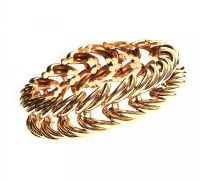 14CT GOLD FANCY-LINK BRACELET at Ross's Auctions