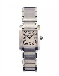 CARTIER 'TANK FRANCAISE' STAINLESS STEEL LADY'S WRIST WATCH at Ross's Auctions