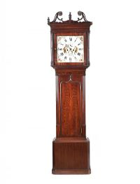 MAHOGANY LONGCASE CLOCK at Ross's Auctions